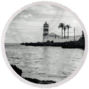 Santa Marta Lighthouse II Round Beach Towel
