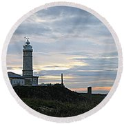 Santander Lighthouse - Spain Round Beach Towel