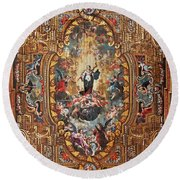 Santarem Cathedral Painted Ceiling Round Beach Towel