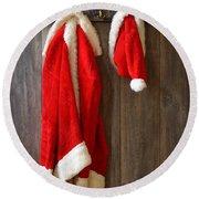 Santa's Coat Round Beach Towel
