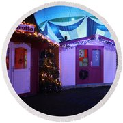 Santa's Grotto In The Winter Gardens Bournemouth Round Beach Towel