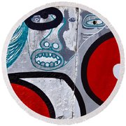Sao Paulo Graffiti I Round Beach Towel