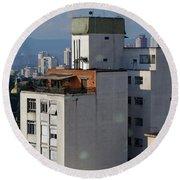 Sao Paulo Penthouse Round Beach Towel