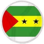 Sao Tome And Principe Flag Round Beach Towel