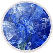 Sapphire In Blue Lace Round Beach Towel