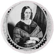 Sarah Childress Polk (1803-1891) Round Beach Towel