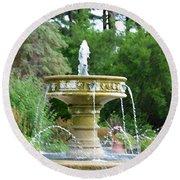 Sarah Lee Baker Perennial Garden 6 Round Beach Towel