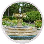 Sarah Lee Baker Perennial Garden 7 Round Beach Towel
