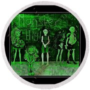 Sarah's Monster High Collection Frankenstein Effect Round Beach Towel