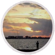 Sarasota 's Sunset Round Beach Towel