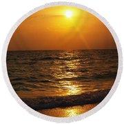 Sarasota Sunset Florida Round Beach Towel