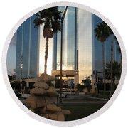 Sarasota Waterfront - Art 2010 Round Beach Towel