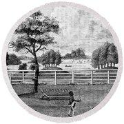 Saratoga, New York, 1794 Round Beach Towel