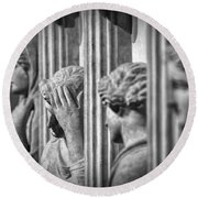 Sarcophagus Of The Crying Women II Round Beach Towel
