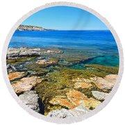 Sardinia - San Pietro Island Round Beach Towel