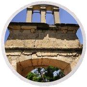 Sassia Monastery Bell Tower Round Beach Towel