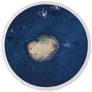 Satellite View Of Rocas Atoll In South Round Beach Towel