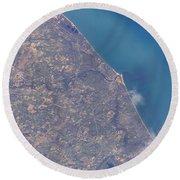 Satellite View Of St. Joseph Area Round Beach Towel by Stocktrek Images