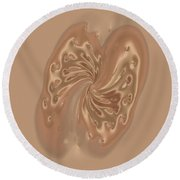 Satin Butterfly Round Beach Towel