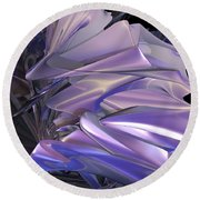 Satin Wing By Jammer Round Beach Towel