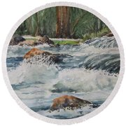 Sauble Falls Round Beach Towel