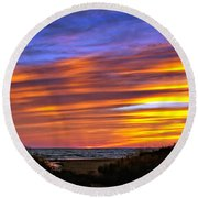 Sauble Sunset Round Beach Towel