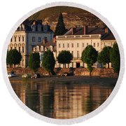 Saumur Reflected Round Beach Towel