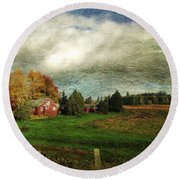 Sauvie Island Farm Round Beach Towel