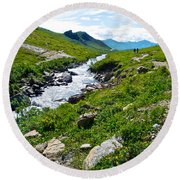 Savage River From Savage River Trail In Denali Np-ak    Round Beach Towel