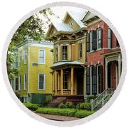 Savannah Architecture Round Beach Towel