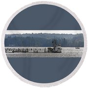 Savannah Jean On Liberty Bay Round Beach Towel