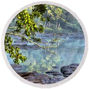 Savannah River In Spring Round Beach Towel