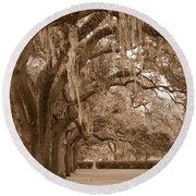 Savannah Sepia - Emmet Park Round Beach Towel
