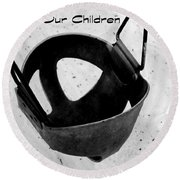 Save Our Children Round Beach Towel