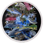 Save Our Seas In008 Round Beach Towel