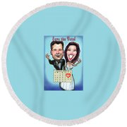 Save The Date Round Beach Towel