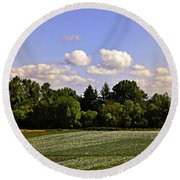Savie Island Flower Garden Round Beach Towel