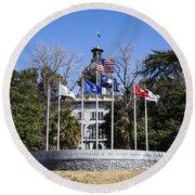 Sc Veterans Monument Round Beach Towel