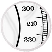Scale Numbers Round Beach Towel