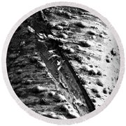 Laceration Round Beach Towel