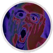 Scared Silly Round Beach Towel