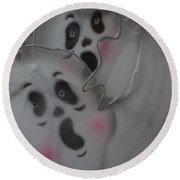 Scary Ghosts Round Beach Towel