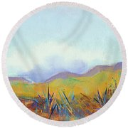 Scattered Seeds Round Beach Towel