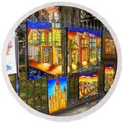 Scenes Of Nola Round Beach Towel