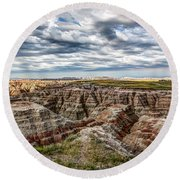 Scenic Badlands Round Beach Towel