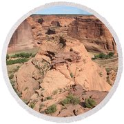 Scenic Canyon De Chelly  Round Beach Towel