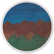 Scenic Mountains Round Beach Towel