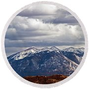 Scenic Moutains Round Beach Towel