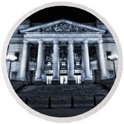 Schermerhorn Symphony Center Round Beach Towel by Dan Sproul