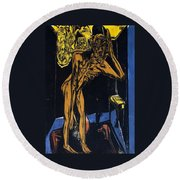 Schlemihls In The Loneliness Of The Room Round Beach Towel